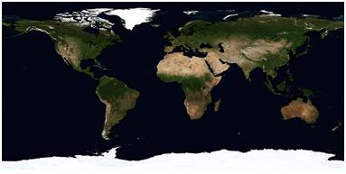 een kaart van de wereld uit een atlas