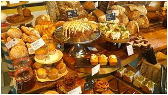 Een banketbakker maakt brood.