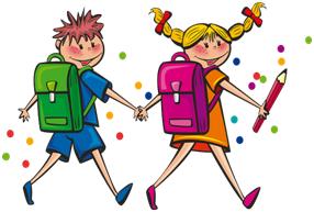 DE kinderen gaan naar de basisschool.