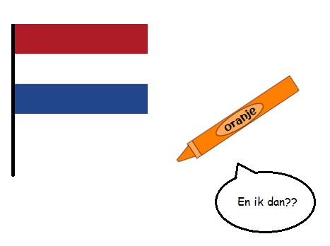 drapeau oranje crayon
