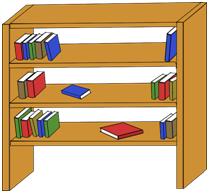 In een bibliotheek vinden we boeken.