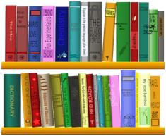 Er staan veel boeken op dit boekenrek !