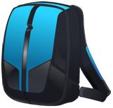 een blawe boekentas