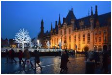 Op het plein van Brugge.