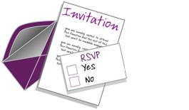 uitnodigen