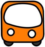 De bus rijdt op de straat.