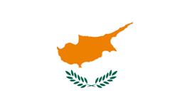 De vlag van Cyprus.